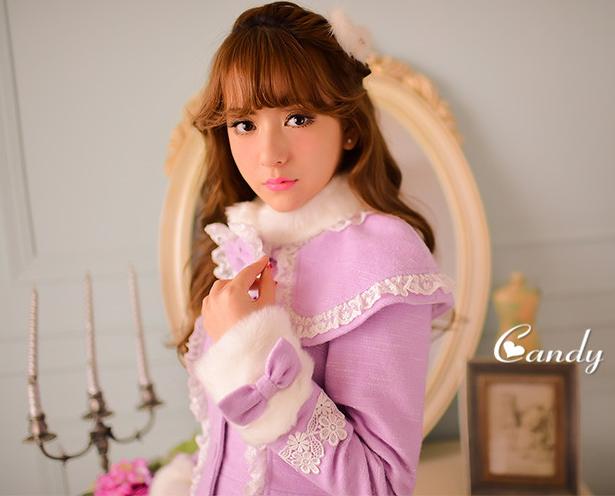 国際萌え萌えファッションsnow White 冬 姫系コート ロリータ系